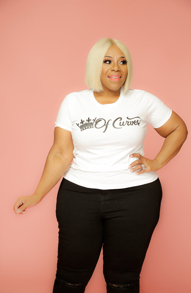 White Queen Of Curves Tee