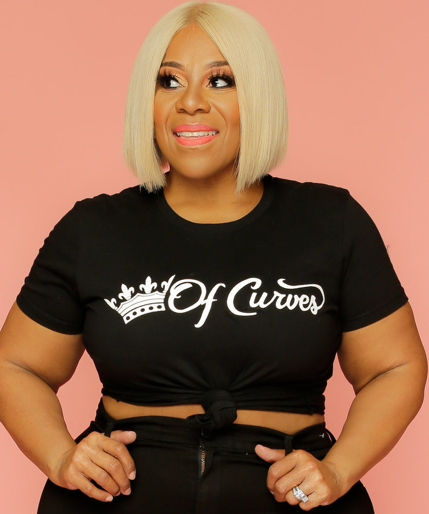 Black Queen of Curves Tee