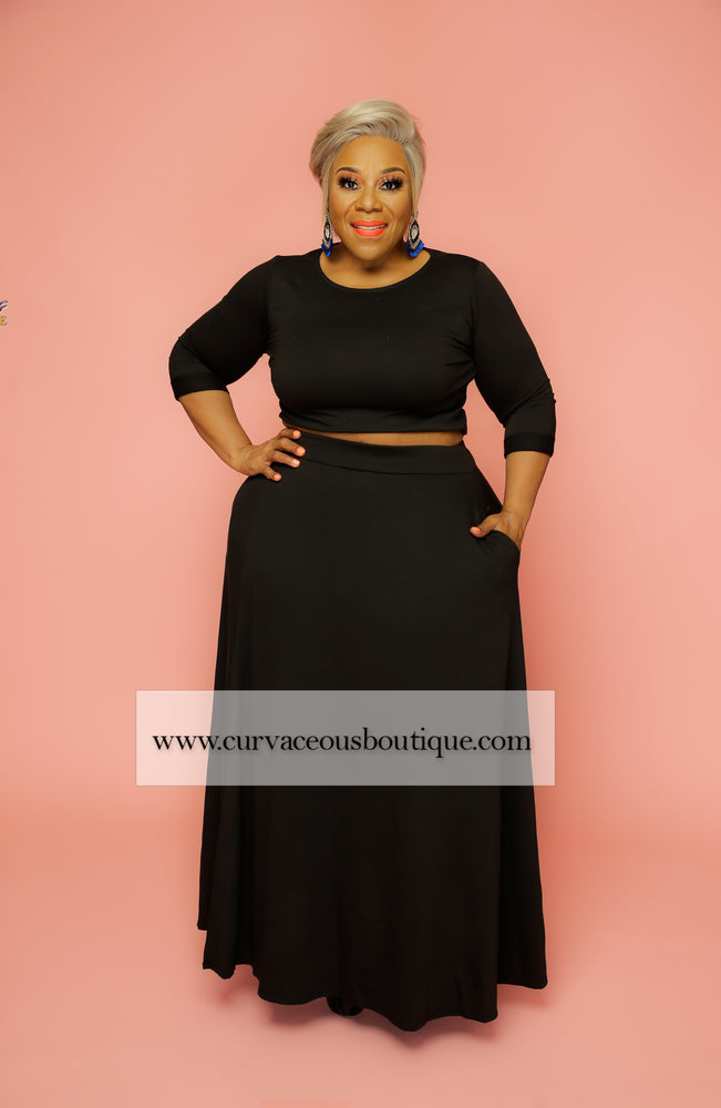 Black Riley Skirt Set