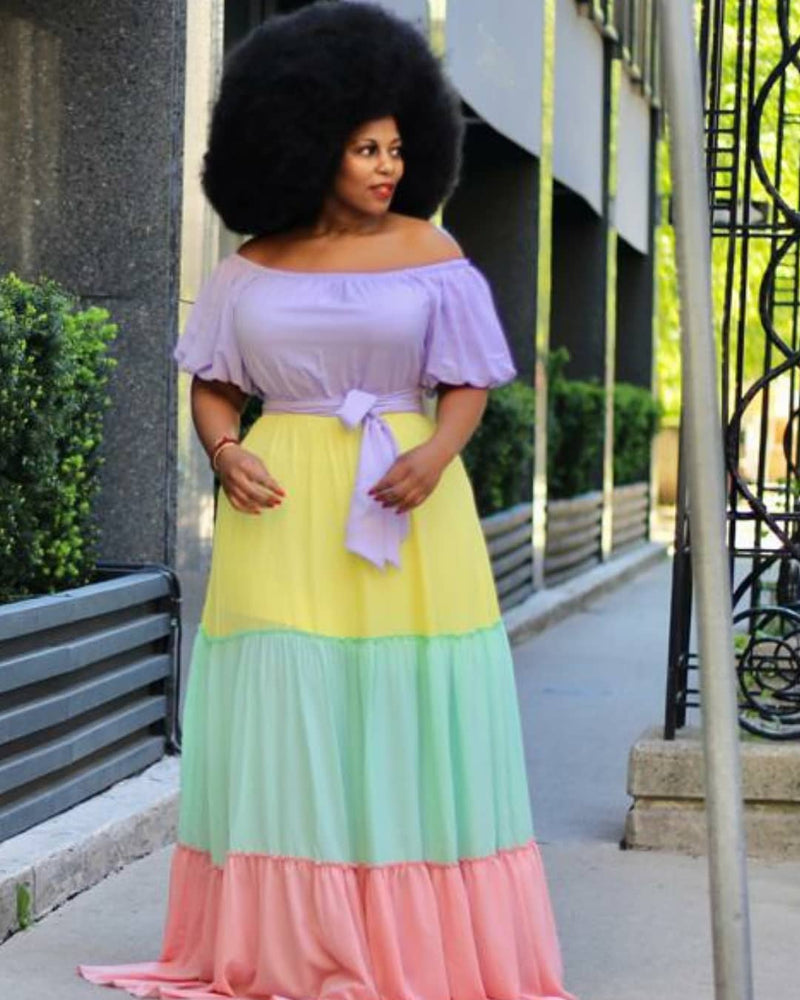 Candy Girl Tier Maxi Dress  Curvaceous Boutique-8663