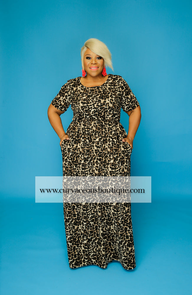 Leopard Pocket Maxi Dress