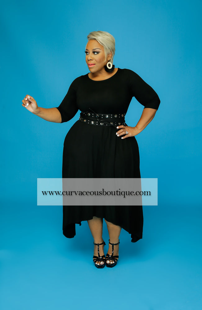 Black Unbalance Dress