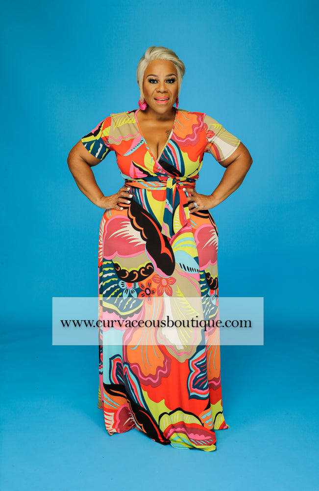 Jonna Colorful Maxi Dress