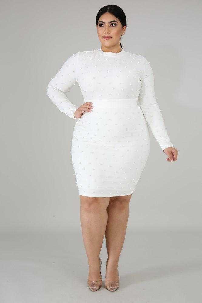 Ivory Skylar Pearl Body-Con Dress