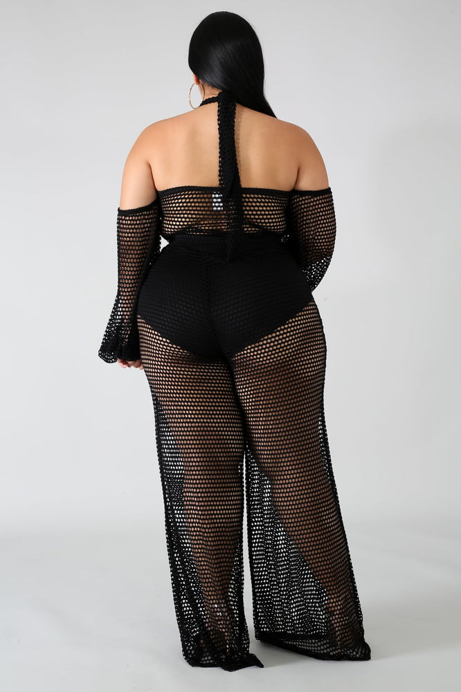 Black Ray Netted Set