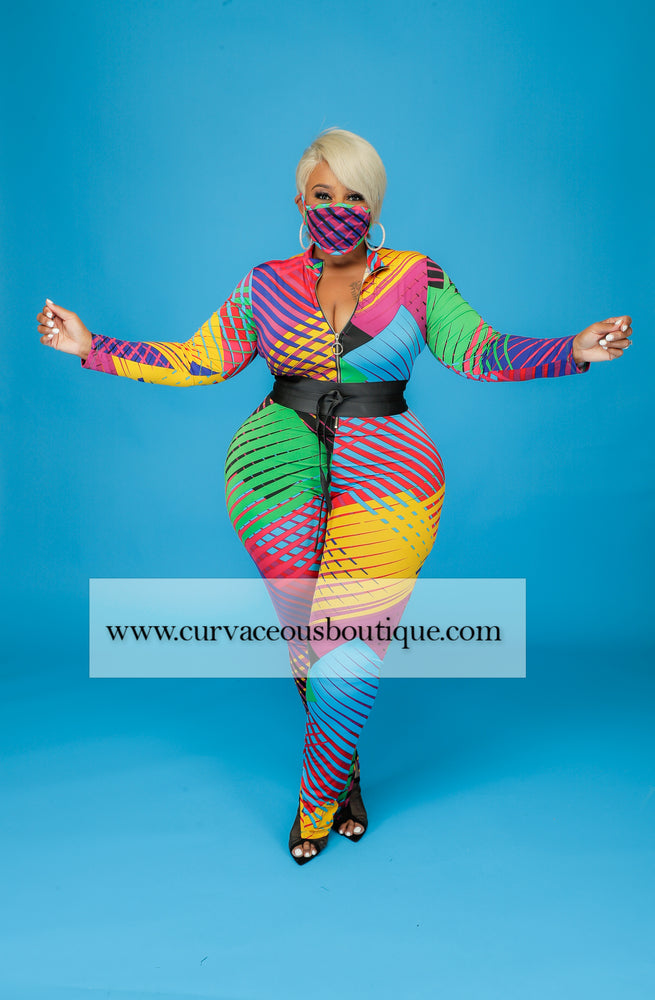 Zipped In Color Catsuit