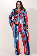 Billy Shiny Sequin Pant Set
