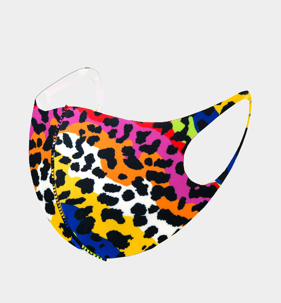 Colorful Leopard Face Mask