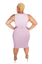 Lilac Basic Midi Body-Con Dress