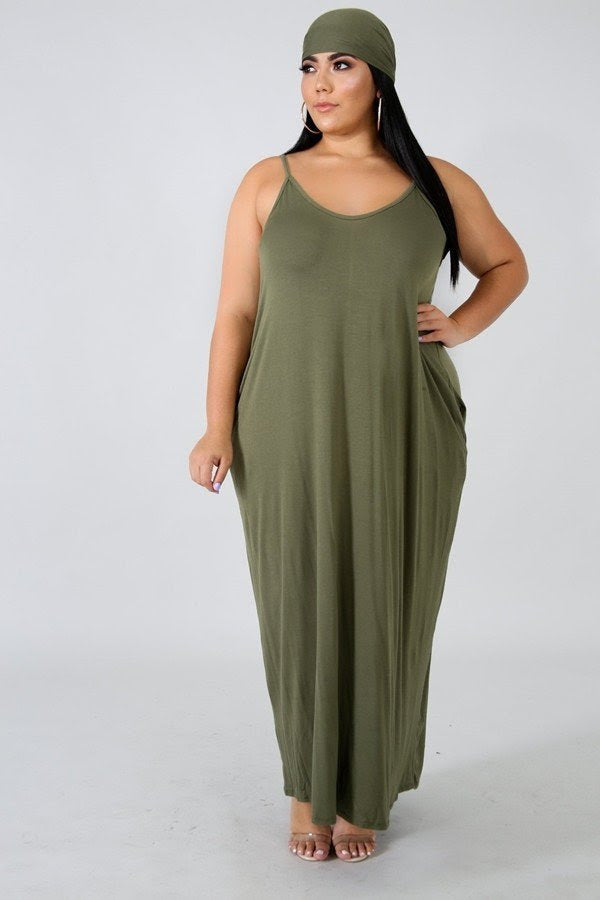 Olive Green Kristen Lounge Maxi Dress