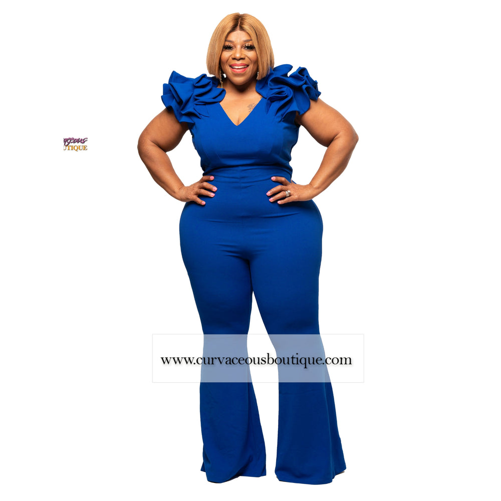 Royal Blue Polly Flare Jumpsuit