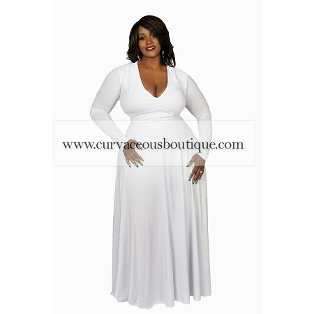 White Harper Maxi Dress