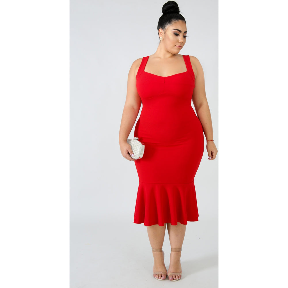 Red Yalissa Flare Dress