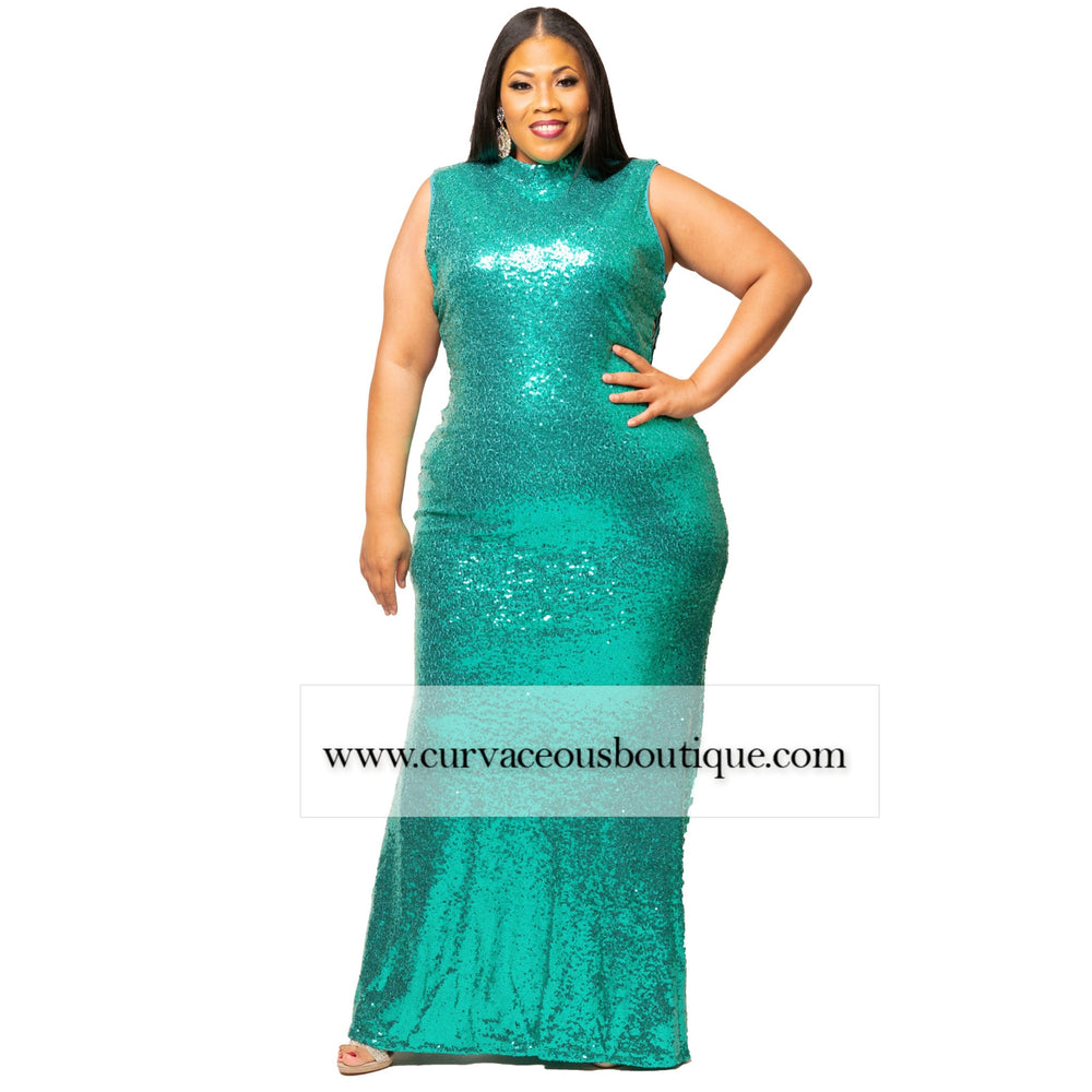 Emerald Chole Sequin Gown