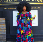 Colorful Print Harper Maxi Dress