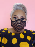 Gold Mesh Sequin Face Mask