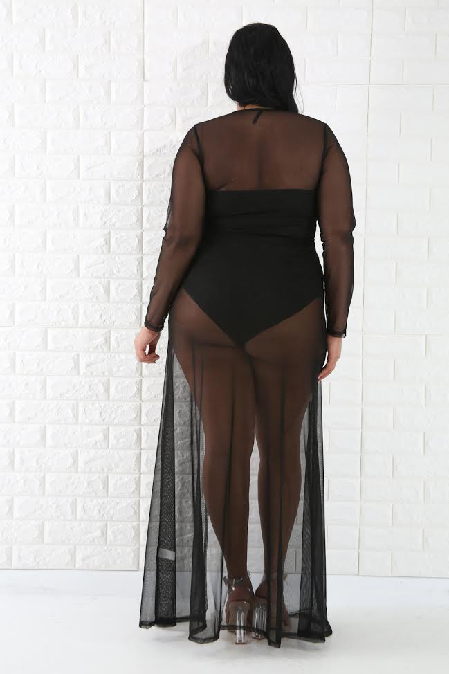 Black Nico Sheer Cover Up