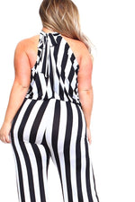 Stripe Mira Mock Neck Jumpsuit
