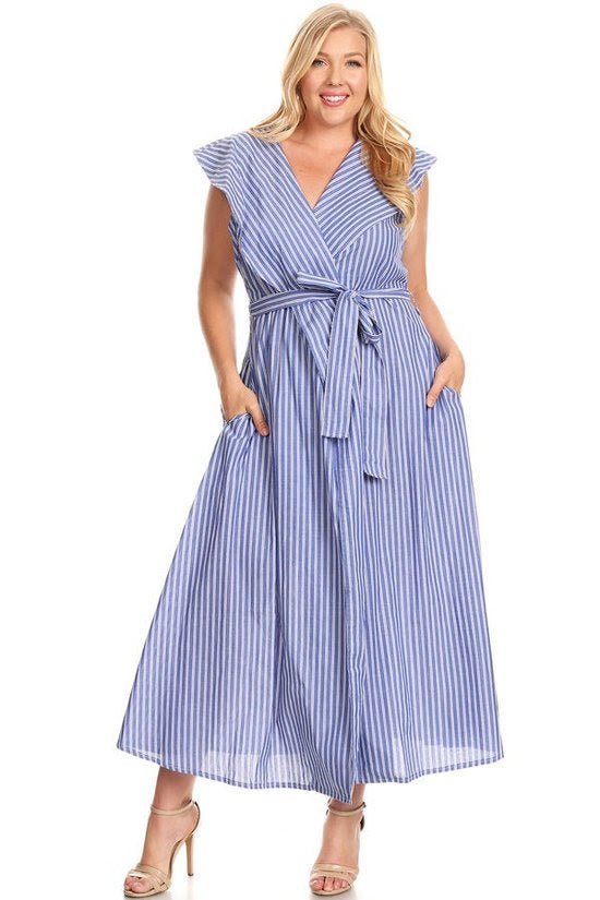 Samantha Stripe A-line Maxi Dress