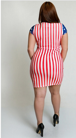 Patriotic Pride Body-Con Dress