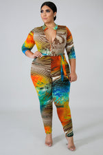 Thommy Print Catsuit