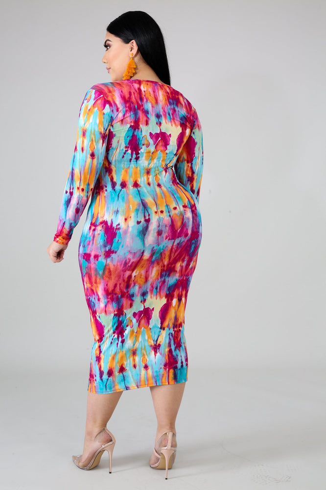 Alicia Tye Dye Body-Con Dress