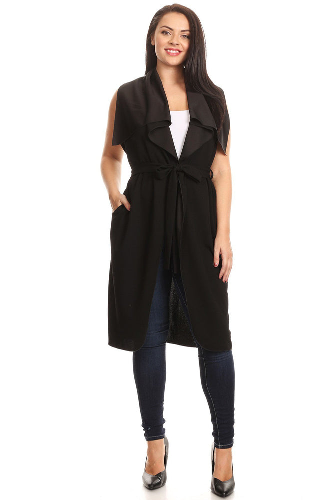 Black Crepe Techno Duster