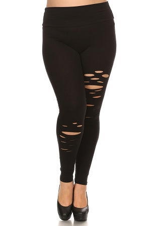Black Cutout High Waist Leggings