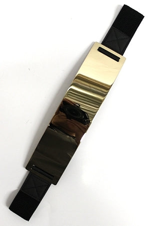 Gold Black Metal Plate Belt
