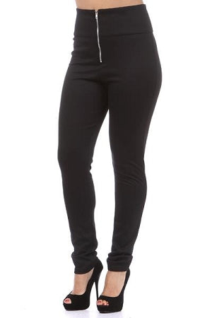 Black Zipper Leggings