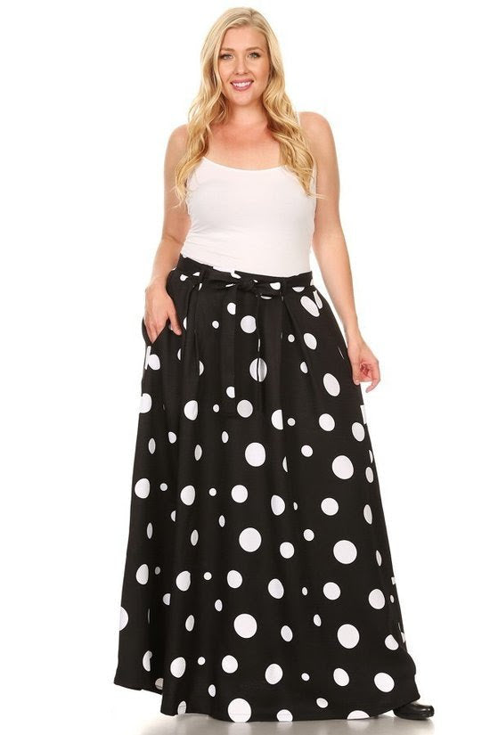 Black Kay Polka Dot Skirt