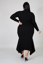 Black Erica Sweater Dress