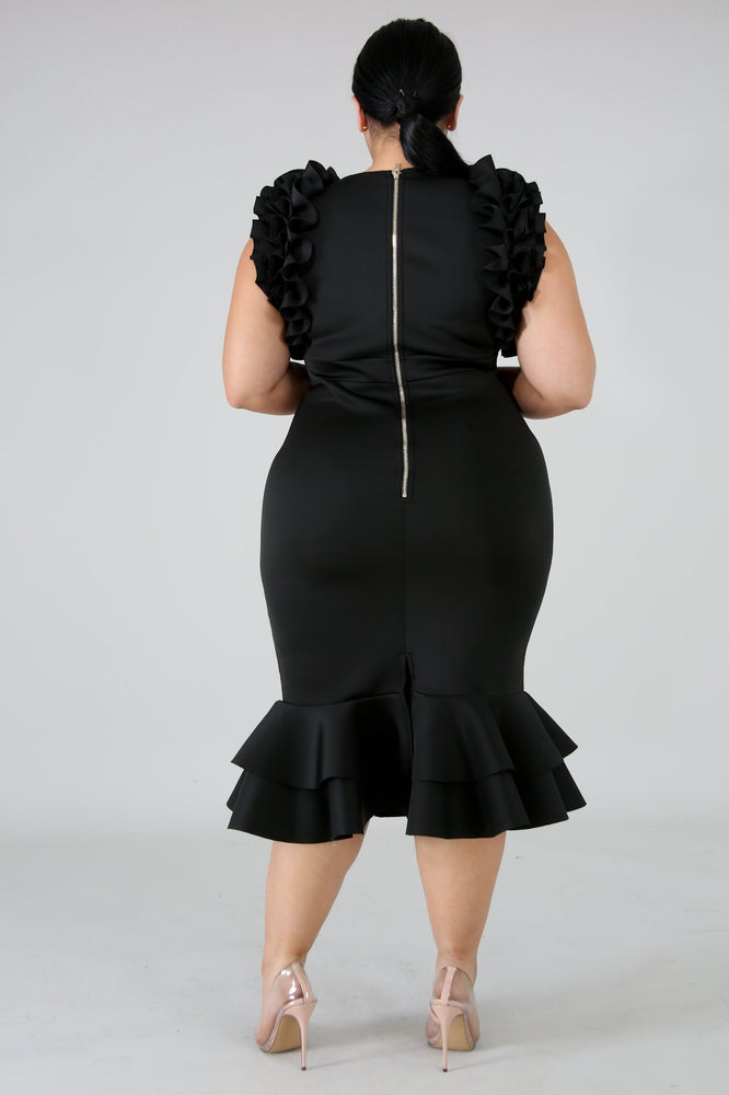 Black Moni Pleated Dress
