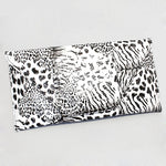 Black & White Leopard Envelop Clutch