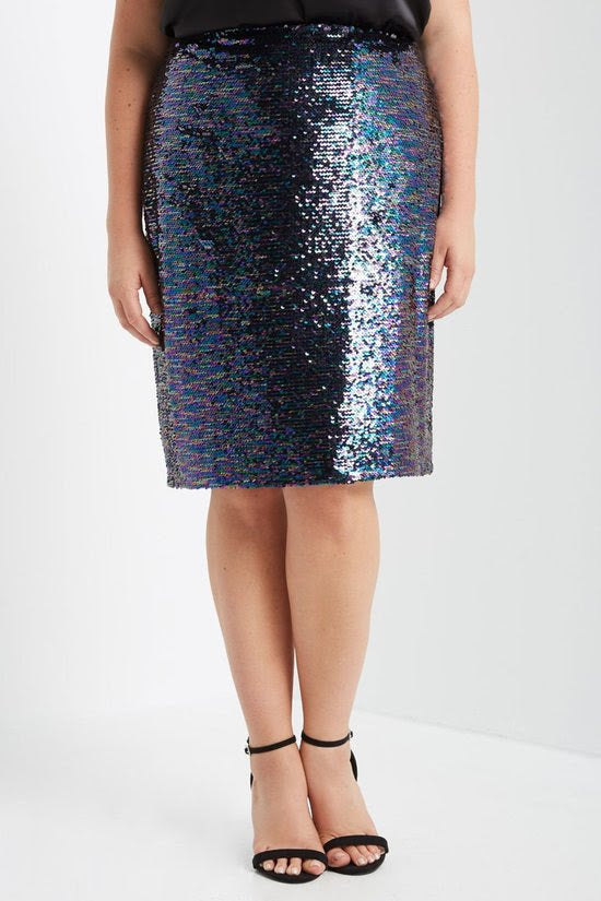 Blue/Purple Sequin Skirt