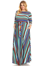 Blue Candy Cane Gabby  Maxi Dress