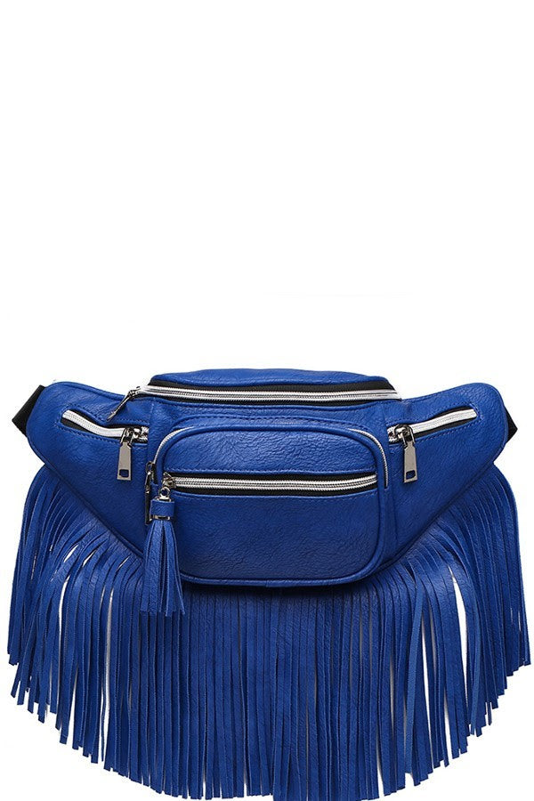 Royal Blue Western Fringe Fanny Pack Waist Bag