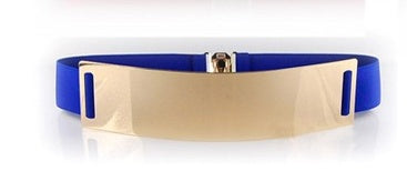 Blue Metal Plate Belt