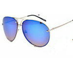 Blue Large Mirror Aviator Glasses