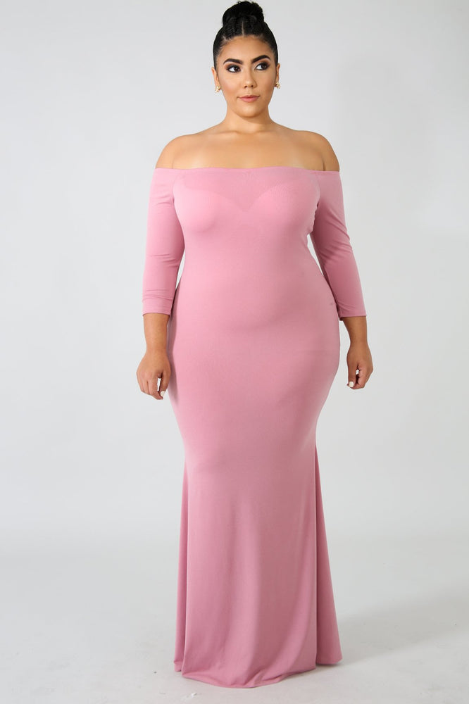 Blush Yasmin Off Shoulder Dress