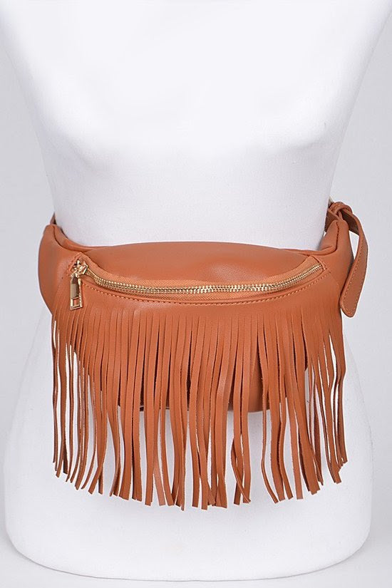 Brown Fringe Fanny Pack