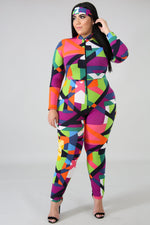 Cade Abstract Print Catsuit