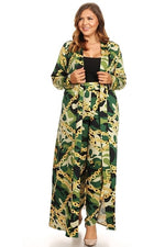 Camouflage Chain Print Duster Set
