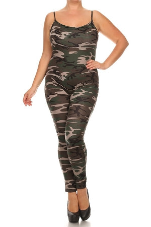 Camouflage Simple Sassy Body- Suit
