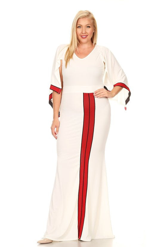 Cream Jessy Cape Maxi Dress
