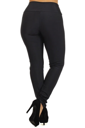 Black Disco Zipper Leggings