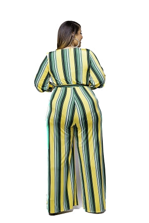 Darcy Yellow Stripe Jumpsuit