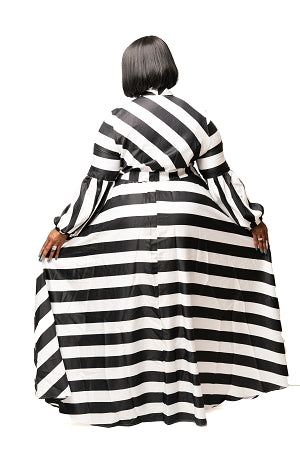 Celine Stripe Bow Tie Dress