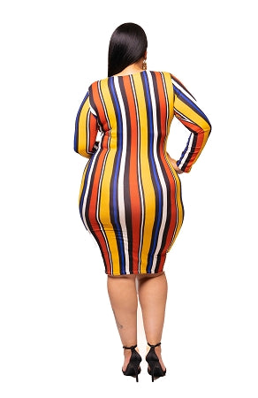Yellow Shan Stripe Dress