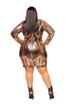 Gold Metallic Josie Body-Con Dress